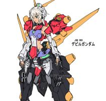 Devil Gundam Mecha Musume by wdy1000