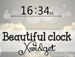 Beautiful clock (Xwidget) by Nonuu