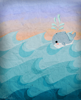 Little Whale in the Sea by Oogeepatogoa