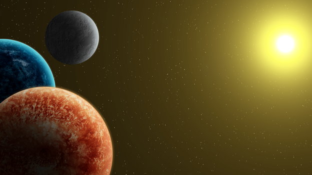 Twin Planets Wallpaper by ZonicBoom97