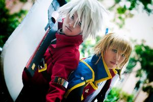 BlazBlue Ragna and Jin by phyllopillow