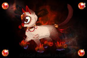 Fire Kitty by lizspit