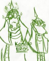 Komodo Bros by Smori
