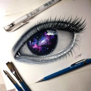 Galaxy Eye Painting by LethalChris