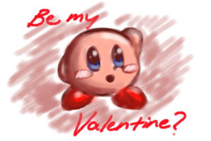 Be my valentine...? From Kirby by BDGtard