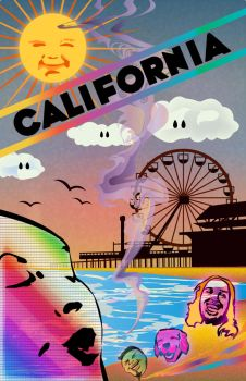Santa Monica Travel Poster by Slumberparties