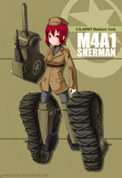 Mecha Musume: M4A1 Sherman by GenericMav