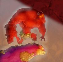 Big Red in colour by Kmadden2004