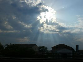 Sunrays on the highway by Shanna-the-Freak