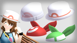 MMD pokemon girls' hats DL by 2234083174
