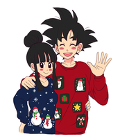 Chi-Chi and Goku by umekari