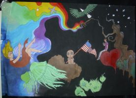 school mural design by zombiesXparade