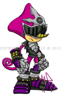 SatBK: Espio as Sir Gareth by Zephyros-Phoenix
