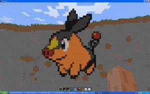 Tepig On Minecraft by Miccopicco