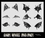 Dark wings png pack. by fromyesterdaay