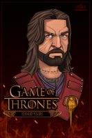 Cut Here - Eddard Stark Game of Thrones by Xaggerate