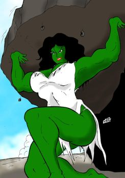 She Hulk left color by wyattx