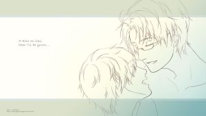 APH - USUK - A kiss on lips... by astridyue