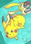 Pikachu Sketch Card by IsaiahBroussard