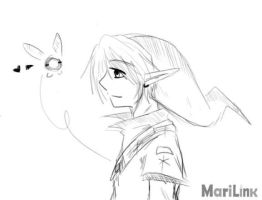 Link and navi by oMariLinko