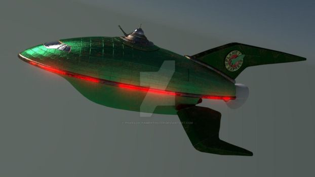 Futurama Planet Express Ship WIP by Pharaoh-Hamenthotep