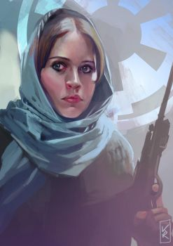 Jyn Erso by kittrose