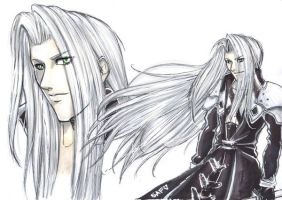 Final Fantasy 7 Sephiroth by DarkLitria