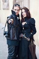 Lady Hecate e sir Towers by Steampunk-Italia
