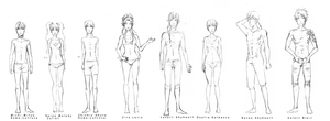 POB Project Act One characters. by fliff