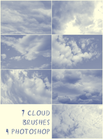 7 Cloud Brushes by Resaturatez