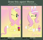 DRAW THIS AGAIN MEME - A Fluttershy Easter by The-Queen-Of-Cookies