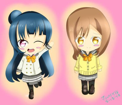 Yohane And Hanamaru Love Live by mitsukokami
