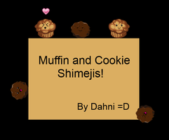 Cookie and Muffin Shimejis by WorldEndsGirl14