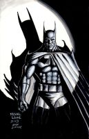 Batman loosely after Jim Lee 2013 by myconius