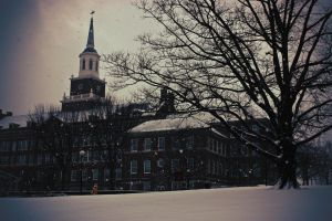McMicken Hall in Winter by TicklishPear