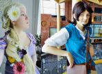 Rapunzel and Flynn - cosplay by PapouJunkie