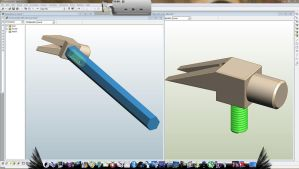 CAD Practice - Hammer assembly (3 parts) by SoulDragonWithFlow