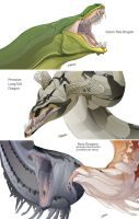 Snake Dragons by beastofoblivion