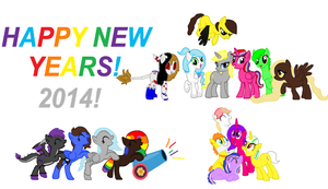 MLP New Years Gift by Strawberry-T-Pony