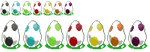 WaterColor Sprite Style Test: Yoshi Egg Collection by Madvenomjack
