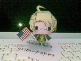 hetalia USA papercraft by Grim-paper
