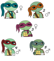 TMNT Adopts 3 - Closed by AlyssaThePikachu
