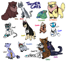 We all want to be cats (Tower Tournament OCT Cats) by DarkRainfire