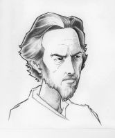 Alan Watts Caricature by MRHaZaRD