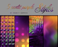 5 Exotic Purple Styles by Insanitygraphicss