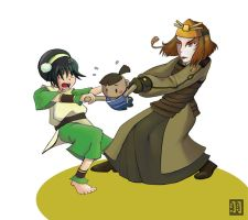 Avatar- Toph vs. Suki by CrimsonLunacy