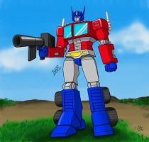 Mono-Phos Optimus Prime- Colored by KenaiWolf