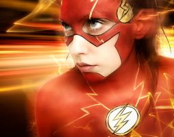 The Flash cosplay makeup by marymakeup