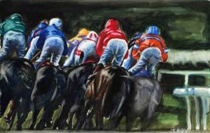 Horse race by CMTrov74