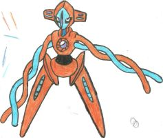 Deoxys Normal form Coloured by CoolMan666